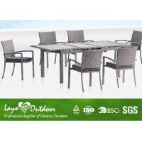 Wholesale 6 Chair Patio Furniture Dining Sets Rattan Extension Table Colorful Collocations from china suppliers