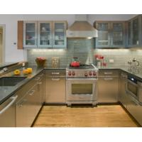 Buy cheap Integrated U Shape Stainless Steel Kitchen Cabinets With Grey Countertop from wholesalers
