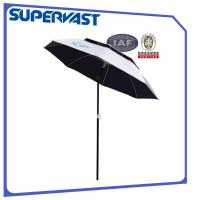 Quality 180/200/220cm Double-Oxford-Canopy Fiberglass Rib Beach Umbrella with Tilt for sale