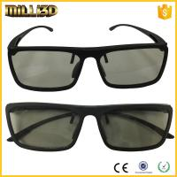 Wholesale Circular or linear Polarized Disposable Universal 3D Glasses Cinema black color from china suppliers