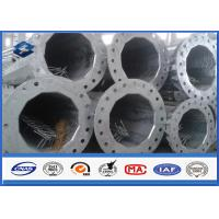 Wholesale Polygonal High Voltage Electric Steel Utility Pole 3.0mm ~ 20mm Thickness from china suppliers