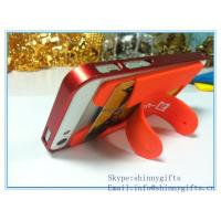 Wholesale 2014 silicon new promo gifts phone standard for iphone sumsung with card holder from china suppliers