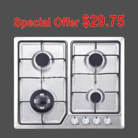 Wholesale Stainless Steel Gas Hob With 4 Burners Home Appliance OEM / ODM Service from china suppliers