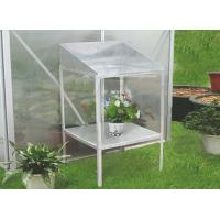 Wholesale DIY Silver Greenhouse Spares and Accessories , Powder Coated Aluminum 2 Tier Greenhouse Stage from china suppliers