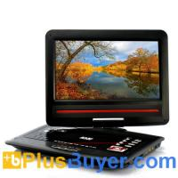 Wholesale 12.1 Inch Screen Region-free DVD Player with Analog TV (270 Degree Swivel Screen, Copy Function) from china suppliers