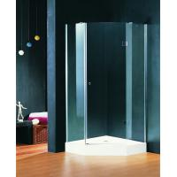 Wholesale Pivot Open Hinged Shower Enclosures 900 X 900 mm Double wheels with Shower Tray from china suppliers