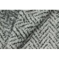 Wholesale Soft Zia Zag Woolen Blended Knitted Sheep Shearling Fabric For Women' s Coat from china suppliers