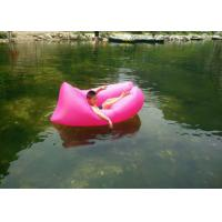 Buy cheap Nylon Ripstop Swimming Inflatable Sleeping Bag / Laybag With Logo Printed 1.4kg from wholesalers