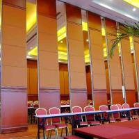 Wholesale High Sliding Wood Panel Operable Acoustic Room Dividers 65mm Thickness Fireproof from china suppliers