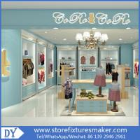Quality Custom nice fashion  design wooden lacquer Childrens Clothing Stores display showcase furniture  with good price for sale