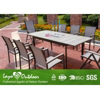 Wholesale Aluminium Painting Faux Wood Patio Furniture Dining Sets Patio Bar And Stools from china suppliers