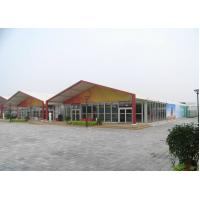 Wholesale Trade Show Canopy , A Word Shape White Marquee Tents Expand One Bay For Receiption from china suppliers
