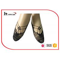 Wholesale Pure Ladies Black Ankle Socks Hallow Out Girls Nylon Footies Socks from china suppliers