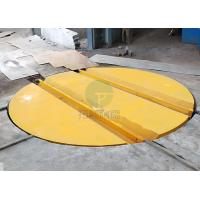 China Dia 10m load 15t AC motor drive powered rail turnplate steel coil manufacture on sale