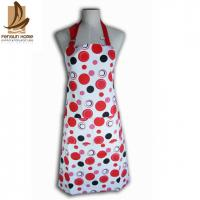 Wholesale Cotton Canvas Red And White Polka Dot Apron Custom Cooking Aprons from china suppliers