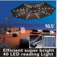 Wholesale Efficient Super Bright 10.5 Foot Banana Garden Umbrella With LED Light from china suppliers