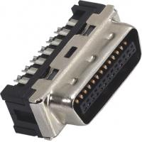 Wholesale 1.27mm Computer Pin Connectors Male DIP SCSI Connector LCP 30%GF UL94V-0 Gold Flash/Sn from china suppliers