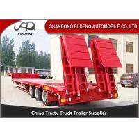 Wholesale Gooseneck Lowboy Trailer Semi 3 Axle Carry Heavy Duty Equipment TrailerstLow Loader from china suppliers
