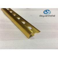 Wholesale Hole Punched Shiny Golden Aluminium Trim Round Floor strip Profile from china suppliers