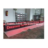 Wholesale Indoor Single Red Led Moving Message Sign P 10 with Aluminum Frame from china suppliers