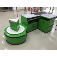 Wholesale Custom Automatic Checkout Counter With Shopping Bag Hook / Supermarket Cashier Desk from china suppliers