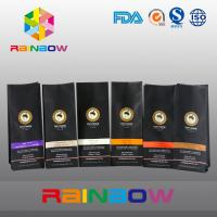 Wholesale Black 70g 100g 250g 500g Plastic Pouches Packaging Stand Up Coffee Bean Bag With Valve from china suppliers