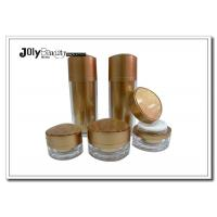 Wholesale A Stamped Printed Empty Cosmetic Bottles Golden Colored Cream Jars from china suppliers