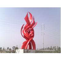 Buy cheap Stainless steel landscape sculpture  with painting,sequare landscape stainless sculpture from wholesalers