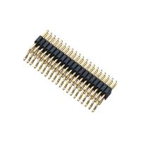 Buy cheap Double Row Black SMT Pin Header Connector Male PA9T H = 2.0 With CAP ROHS Approved from wholesalers