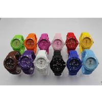 Wholesale Fashion Plastic Case Rotating Bezel Ice Silicone Watches with Different Color from china suppliers