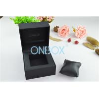 Quality Single Men'S Watch Display Luxury Watch Box Fine Black Touch Paper With Soft Pillow for sale