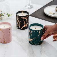 Wholesale Home Decoration Scented Soy Candles Natural Scented Candles Marble Candle Jar With Lids from china suppliers