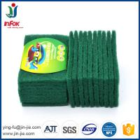 Wholesale INFOK heavy duty abrasive nylon green kitchen cleaning scouring pads from china suppliers