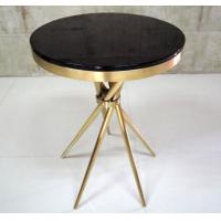 Wholesale Gold Plated Modern Coffee Table With Tempered Glass , Fully Assambled from china suppliers