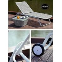 Wholesale Poolside / Lawn / Garden Lounger Chairs With Wheel , Sun Lounge Furniture from china suppliers
