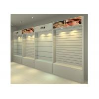 Wholesale MDF Glossy White Wall Mounted Display Cabinets Freestanding With Light Box from china suppliers