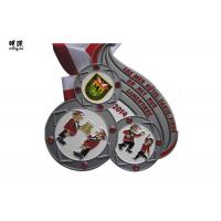 Wholesale Big Size Heavy Crystal Custom Award Medals With Soft Enamel , Sandy Back Surface from china suppliers