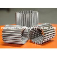 China SS304 pleated stainless steel mesh for various inner filtration application ,the number of pleated customized available on sale