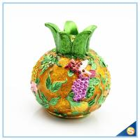 Wholesale Enamel Craft Pomegranate Shape Trinket Box Hand Painted Flying Bird with Rhinestone SCJ540 from china suppliers