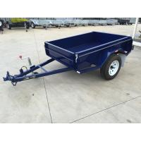 Wholesale 6x4 Tandem Box Trailer Single Axle Utility Trailer 750KG With Mudguards Checker Plate from china suppliers