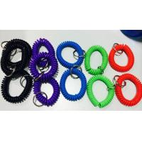 Wholesale Top quality perfect look PU plastic assorted color 2.5x10x55mm wrist coil wristband w/ring from china suppliers