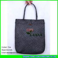 Wholesale black straw handbags handmade seagrass straw tote beach bags from china suppliers