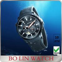 Wholesale Stainless Steel Mechanical Automatic Mens Bracelet Watches Watch With Genuine Leather from china suppliers