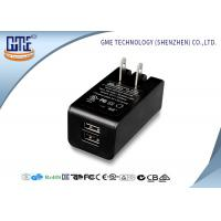 Wholesale Dual Port 5v 2a Wall Mount Charger Ac Dc Switching Adapter Black Color from china suppliers