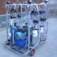 Wholesale Diesel Engine Eletric Motor Mobile Sheep Milking Machine 550 l / Min Vacuum Pump Capacity from china suppliers