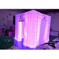 Buy cheap Oxford Fabric portable Inflatable Cube Tent For Outlets With LED light from wholesalers