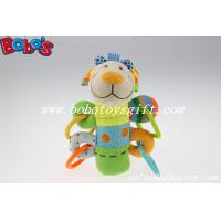 Wholesale Soft Stuffed Colorful Lamb Animal Style Plush Baby Rattle Stick Toy with Plastic Accessory from china suppliers