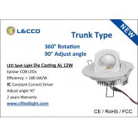 Wholesale Adjustable Led Recessed Spot Lights , High Brightest Led Spotlight Trunk Type from china suppliers
