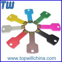 Wholesale Metal Key Usb Pen Drive 2GB 4GB 8GB 16GB 32GB Free Logo Printing from china suppliers