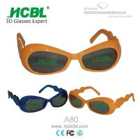 Wholesale Plastic Frame Circular Polarized RealD 3D Glasses For Baby / Kid / Toddler from china suppliers
